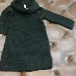 Cherokee girls sweater dress M 7/8 black W/gold
